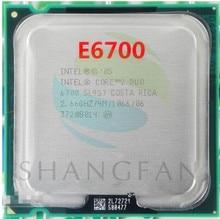 lntel CPU Core2 E6700 SL9ZF CPU 2.66GHz 775pin/4MB Cache Dual-CORE 65W