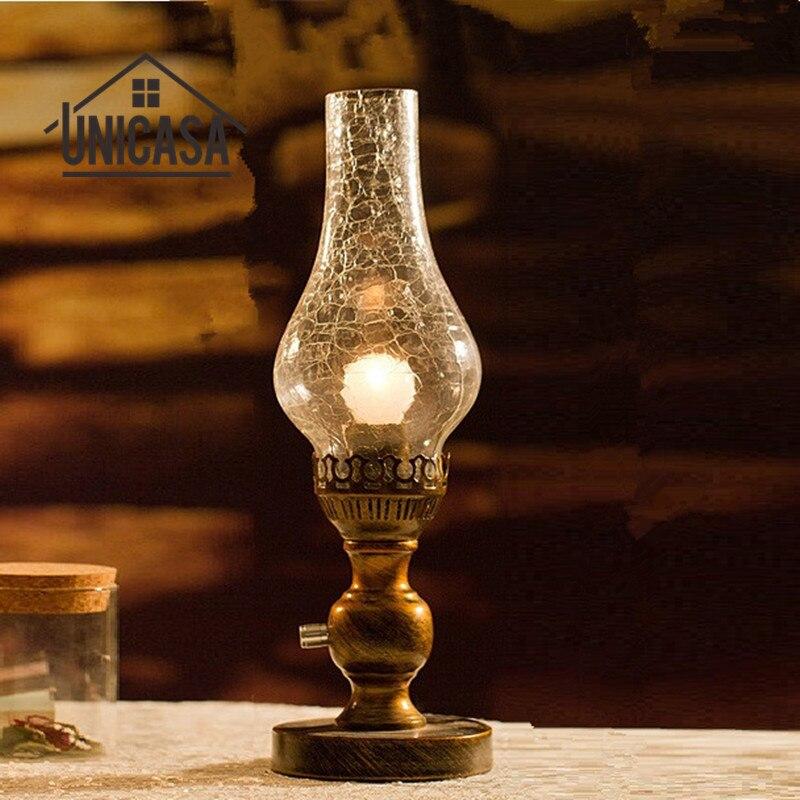 Réglable Lampes de Table Abat-Jour En Verre De Chevet Lampe de Bureau Chambre Lampe De Table De Bureau Bureau Déco Éclairage Libraly Bar Accueil LED Lampes