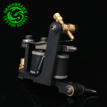 Free Shipping New Design Handmade Tattoo Machine 10 Wrap Coil Tattoo Gun Supplies For Shader And
