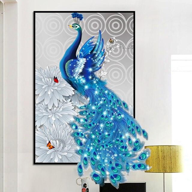 Elmas Nakış Hayvan Peacock Çapraz Dikiş 5D DIY Elmas Boyama manzara Elmas Mozaik rhinestones Ev Dekor hediye