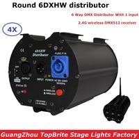 4XLot Stage Light Controller DMX512 Splitter Light Signal Amplifier Splitter 6DXHW Distributor For Professional Stage Equipments