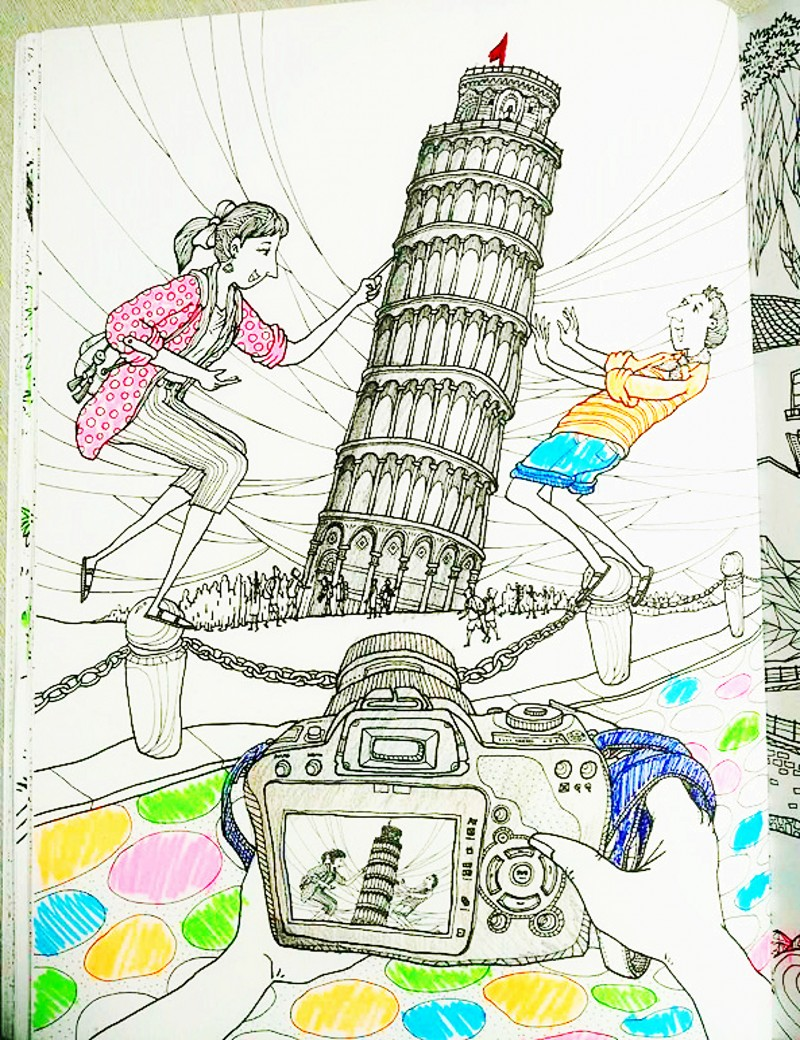 online shop italy travel coloring book for children adults antistress art drawing painting graffiti colouring books libro colorear adultos aliexpress - Travel Coloring Book