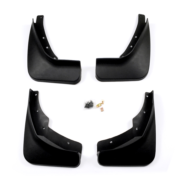 Car Styling Accessories 4PCS Plastic Front&Rear Mudflaps Mud Fender Mud Splash Guard Trim For VOLVO XC60 2018 car accessories 4pcs front