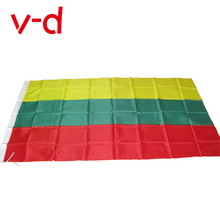 free  shipping  xvggdg 90 x 150cm Lithuania National Flag Hanging Flag Polyester Lithuania Flag