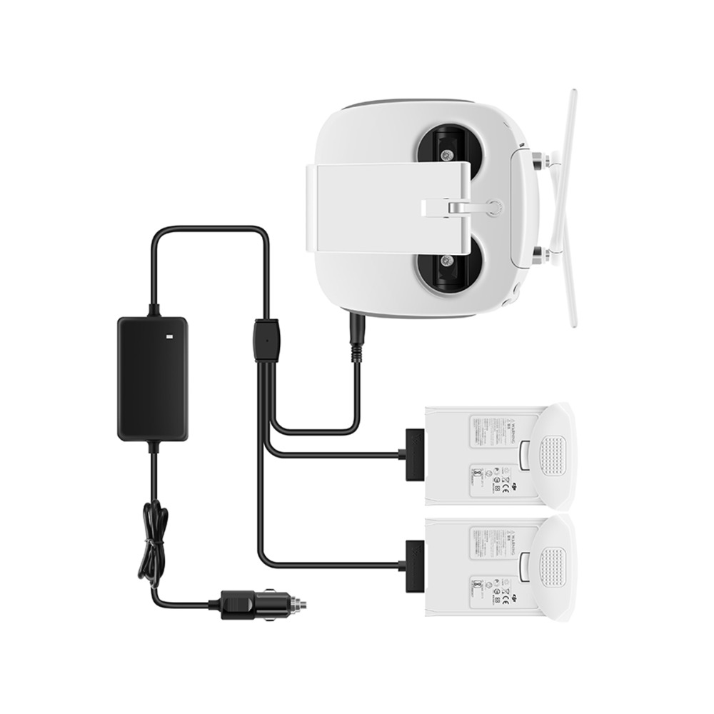cheapest Car Charger for DJI Phantom 4 Pro Advanced Drone Battery Remote Control Charger Portable Fast Outdoor Travel Dual Car Charger