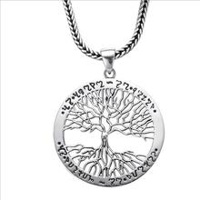 TJP 2019 Hot Sale Male 925 Sterling Silver Necklace Jewelry Fashion Hollow Tree For Men Accessories
