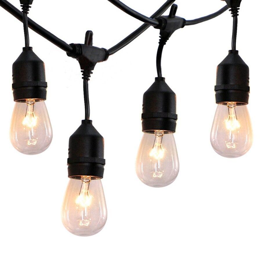 Thrisdar 9M 10PCS 11W Globe Bulbs Outdoor String Light S14 Commercial Grade E27 Street Garden Patio Backyard String Garland