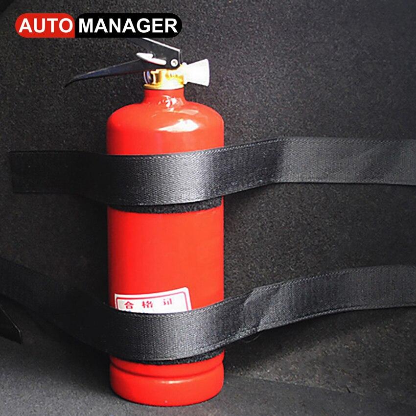 Car Trunk Content Bag Storage Belt Fire Extinguisher Trunk Organizer for Passat Toyota Nissan Volvo BMW