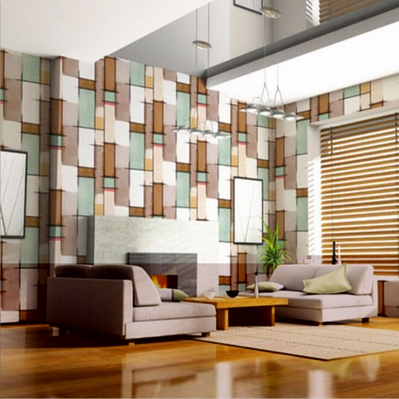 ФОТО Beibehang papel de parede  mosaic modern minimalist living room TV backdrop wallpaper bedroom wallpaper 3D  wallpaper