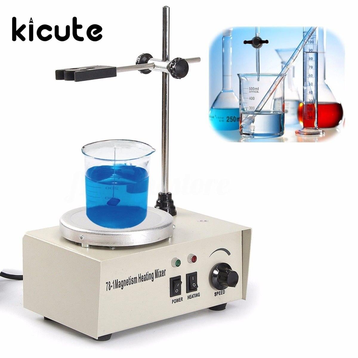 Kicute лабораторное оборудование для нагрева 1000 мл лаборатории магнитной мешалкой с плитой Отопление пластины смесителя 220 В Температура экра...