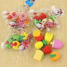 1 PACK Novelty Big Fruit Cuisine Shape Eraser Rubber Eraser Primary School Student Prizes Promotional Gift Stationery