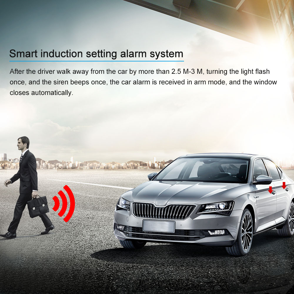 US $69 32 31% OFF KKMOON Universal Smart Key PKE Passive Keyless Entry Car  Alarm System engine start button Remote Engine Start Remote Open-in Burglar
