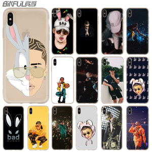 Bad Bunny Maluma Ozuna POP Hip Hop Case for iphone XS 11 Pro Max XR X 10 Cover Phone Cases for iphone 7 8 plus 6s 5 4s(China)