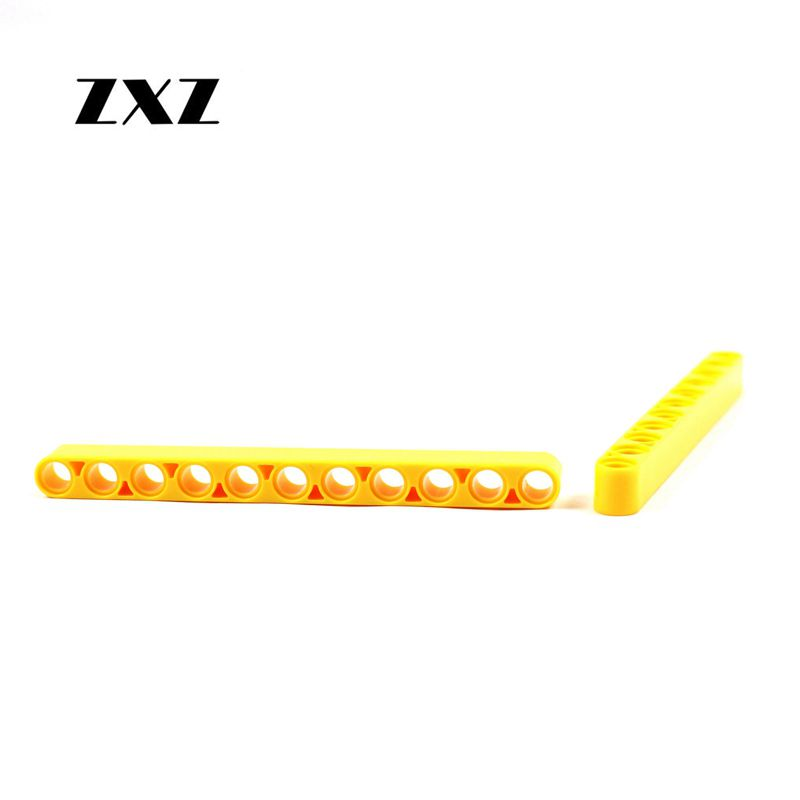 LEGO TECHNIC 3 x Thick Lift Arm Brick Beam with holes 1 x 11 YELLOW