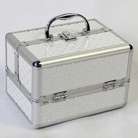 Metal Make Up Storage Box Cute Cosmetic Makeup Organizer Jewelry Box Women Organizer for Travel Storage Boxes Bag Suitcase