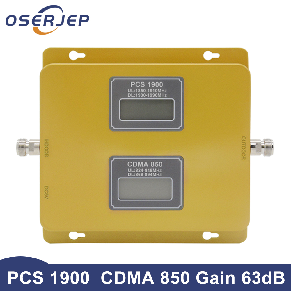 OSERJEP PCS 1900 CDMA 850 Mobile Phone Signal Booster Network Booster Amplifier Lte Repeater Signal Booster
