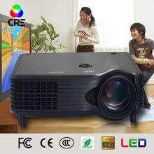 Más barato negro Home Theater TV tuner portátil Multimedia Mini LED proyector con altavoz hdmi 2