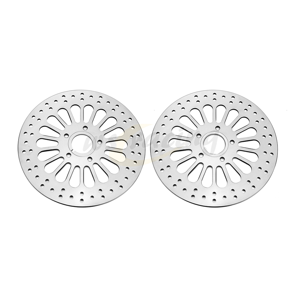 2 Pcs Stainless Steel Front Rear Brake Disc Rotor Set 11.5 For HARLEY TOURING SOFTAIL SPORTSTER DYNA 1984 2013