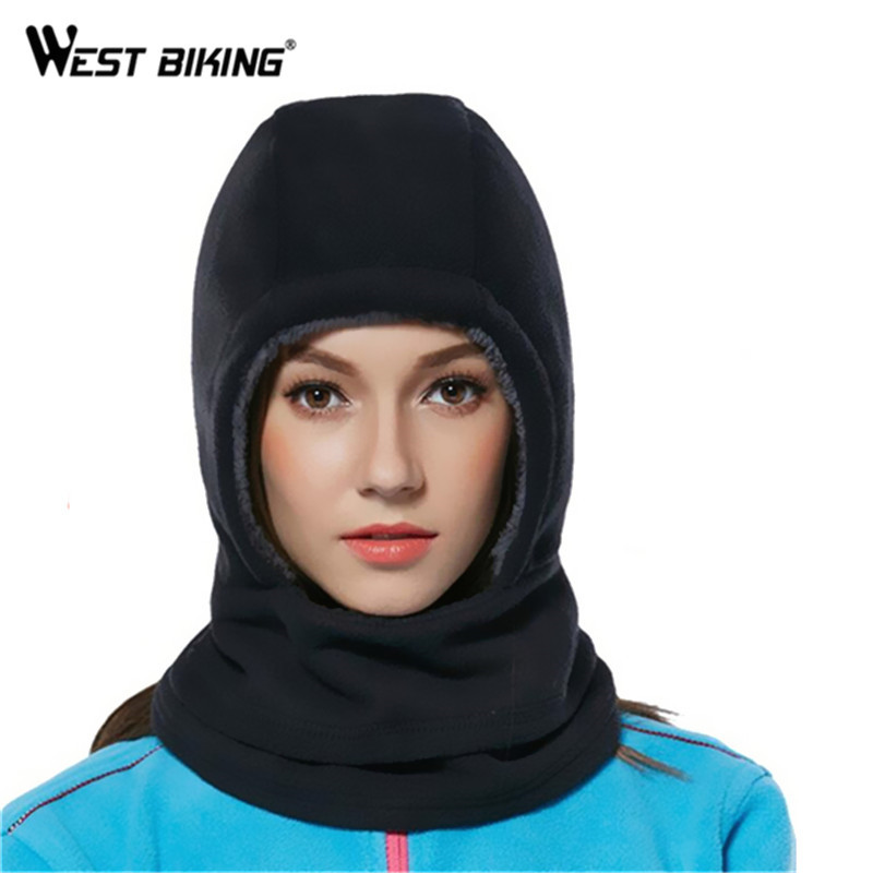 WEST BIKING Winter Cycling Hat Motorcycle Balaclava Ski Bike Bicycle Full Face Mask Cap Fleece Scarf Hood Cover Cycling Hat men s winter warm black full face cover three holes mask cap beanie hat 4vqb