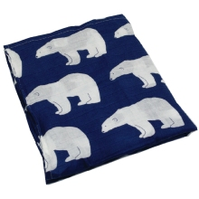 Cute Polar Bears Patterned Breathable Muslin Swaddle Blanket
