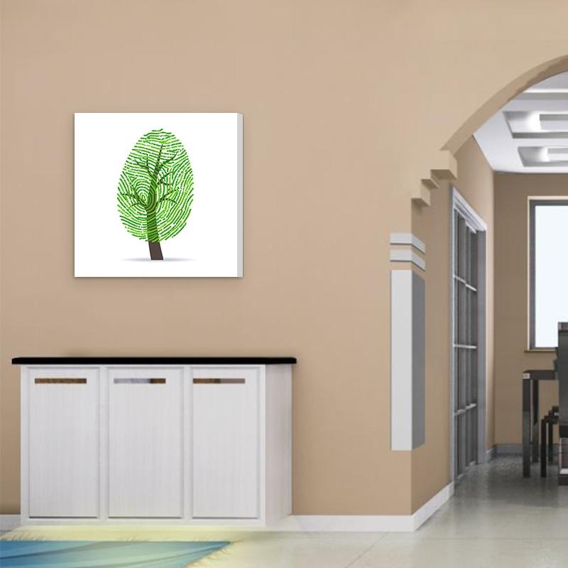 Tanaman Dapur Gambar Kanvas Lukisan Hiasan Dinding Cetakan Seni Minyak Daun Hijau Abstrak Yang Modern Dicetak Di Atas Painting