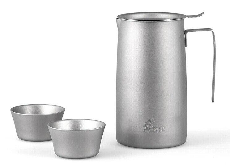 Fabricant de thé titane feu-érable ensemble de thé de Camping en plein air tasse de thé FMP-T320