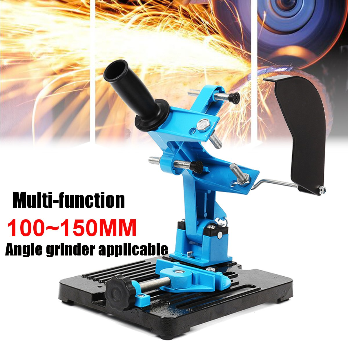 115-150 Angle Grinder Stand Double Bearing Bracket Angle Cutter Support Bracket Holder Dock Cast Iron Base Holder 125 angle grinding frame angle grinder holder stand bracket support angle grinder conversion cutter accessories for 115 to 125mm