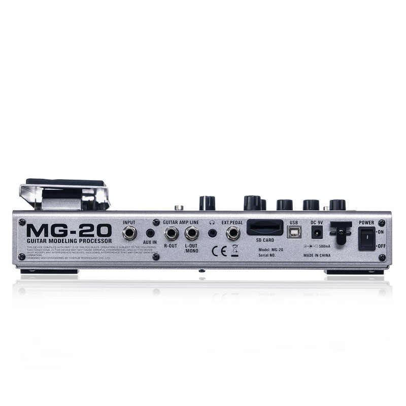 NUX MG-20 Multi-functional Guitar Modeling Processor with 60 Effect Models  72 Preset Drum Machine Looper Function EXP/VOL Pedal