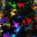 Led10 m 100 led conjunto lámpara intermitente linterna luz creativa de la noche de fibra óptica árbol De Navidad de hadas de la boda lámparas de decoración de vacaciones
