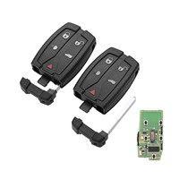 Yetaha 2pcs 5 Buttons Keyless Entry Car Remote Key 433Mhz For Land Rover LR2 2008 2009 2010 2011 2012 NT8 TX9 With Chip