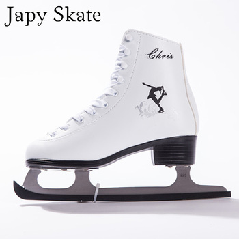 Japy Skate Ice Skates Tricks Shoes Chris Adult Child Leather Ice Skate Professional Flower Knife Real Ice Skates