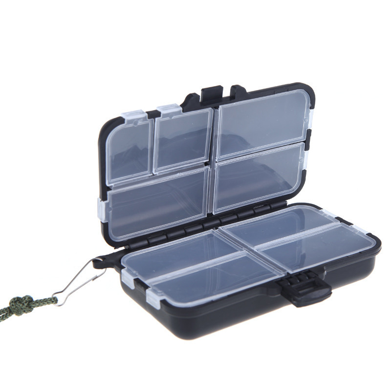 2016 New Storage Box Candy Jewelry Newly 9 Compartments Fishing Lures Box Spoon Baits Tackle Hook Case with Lanyard fishing tackle box for storage bait hook with a waist belt