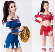 Eurocup animadora 3-stype muchachas del fútbol deportes de ocio trajes de baile sexy cosplay clubwear gioco vestito esotico ds dress