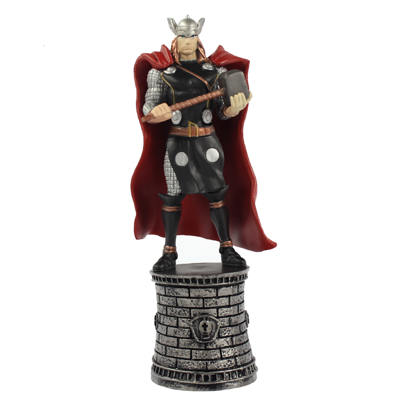 New 5 inch Marvel Comic The Avengers Thor Action Figure Doll Collectible Model with Book Toys for Children Gift Birthday Gift 24 pcs set the elves papa smurfette clumsy figures elves papa action figure for children toys dolls blue color birthday gift