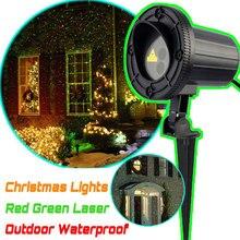 Топ IP44 Водонепроницаемый Рождественские Огни Красный Зеленый Статическая Мерцание Открытый Рождественский Лазерного Света Проектор Украшения Для Дома