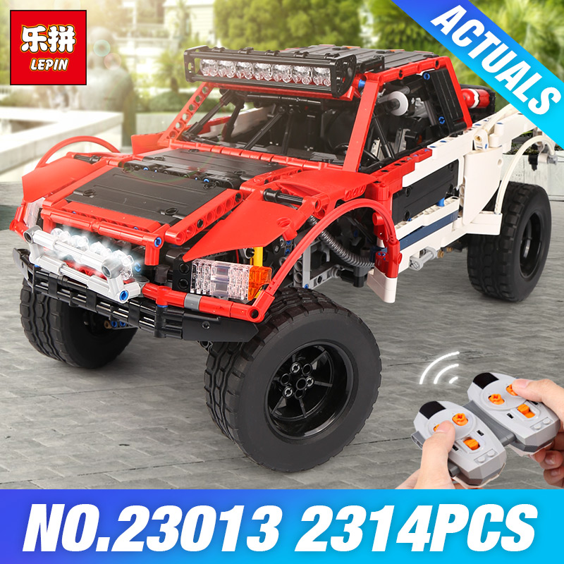 Lepin 23013 Genuine 2314Pcs Technic Series The Remote-Control Off-road Car Set Building Blocks Bricks Funny Toys As Kids Gifts lepin 20077 genuine technic series the rally car set 42077 building blocks bricks educational funny toys as children gifts