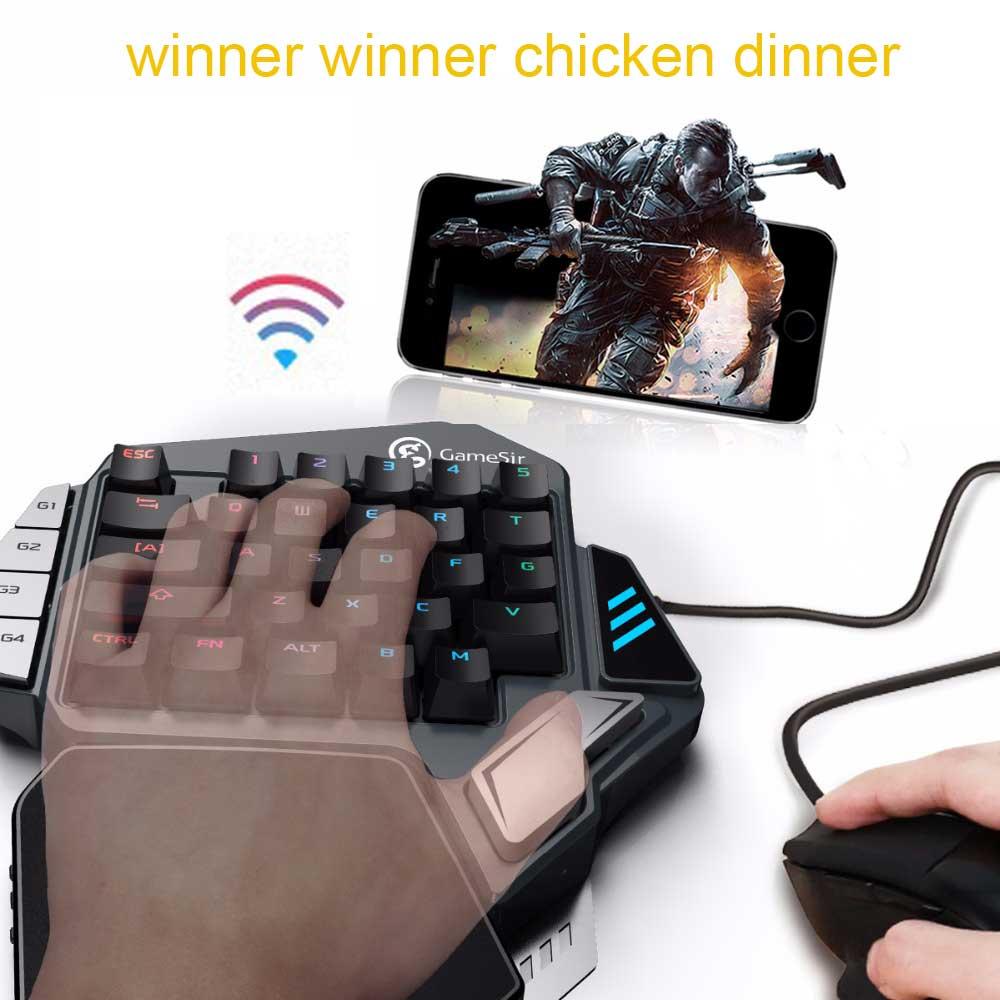 GameSir Z1 BattleDock Gaming Kailh Keypads for AoV Mobile Legends Pubg FPS game Cherry MX Blue mechanical keyboard PK Gamesir X1