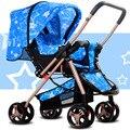 Carrinhos carrinho de Bebê Ultra-light Você pode sentar ou deitar bidirecional carrinho de Bebê carrinho de bebê Dobrável choque
