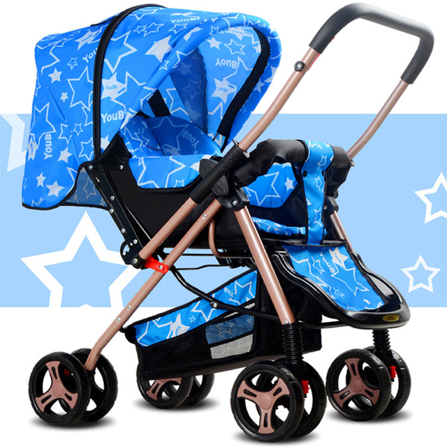 prams Baby stroller Ultra-light You can sit or lie Folding shock bidirectional Baby wheelbarrow baby carriage