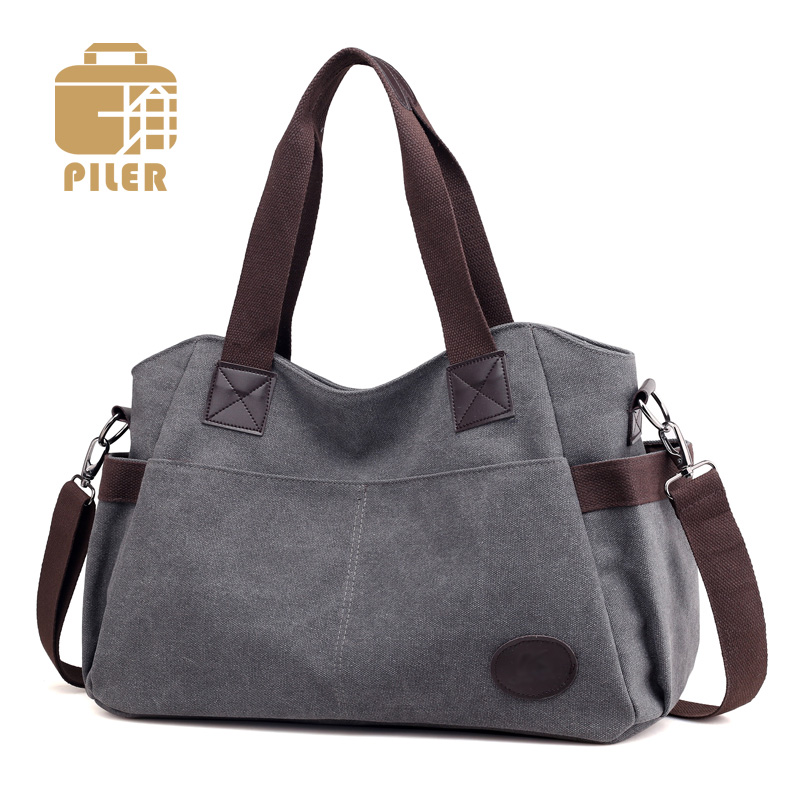 Canvas Handbag Large Hobos Korean Style Woman Handbag Totes