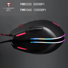 Motospeed V70 USB  Wired Gaming Mouse PMW3325/PMW3360 5000/12000 DPI Computer RGB LED Backlight Mouse Gamer Optical for PUBG