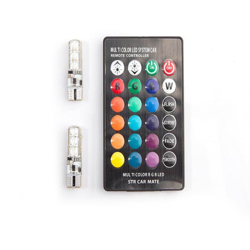 12V RGBW W5W T10 wedge LED Auto LED Bombilla Flash Strobe Fade Smooth - Luces del coche