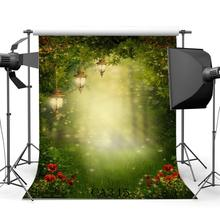 Photography Backdrop Bokeh Halos Dreamy Fairy Tale Mysterious Forest