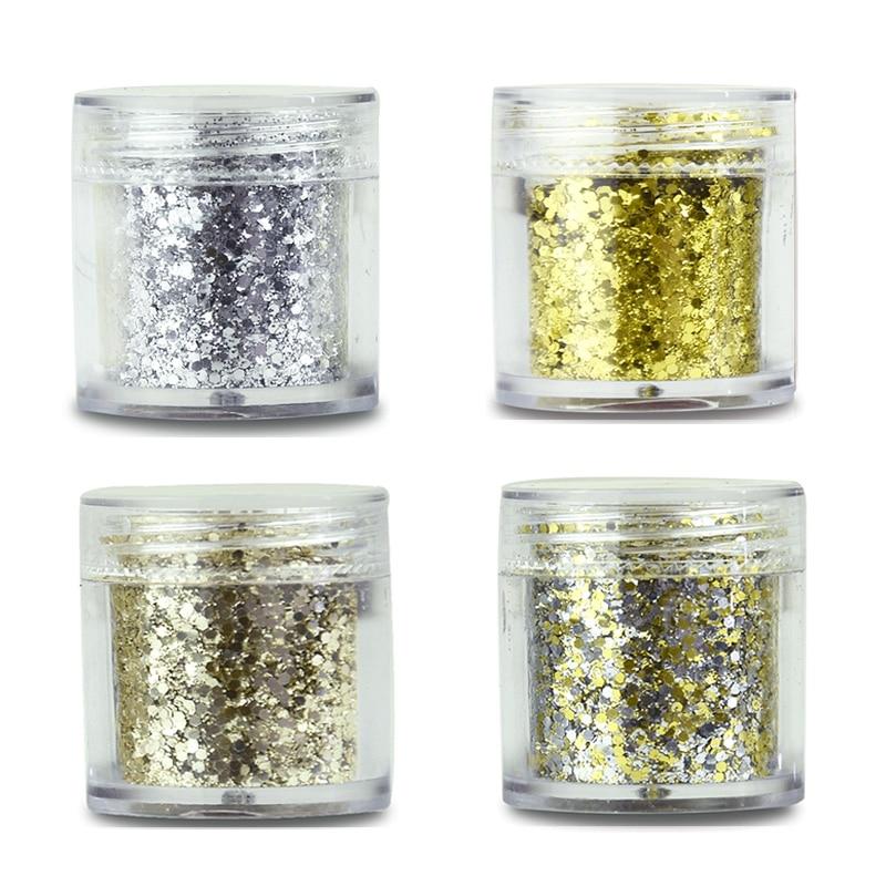 4 Boxen 4x10 Ml Silber Farbe Nagel Glitter Staub Feine Mix 3d Nagel Pailletten Glitter Pulver Gatsby Metallic Glitter Mix Set/feine Senility VerzöGern Nails Art & Werkzeuge Nagelglitzer
