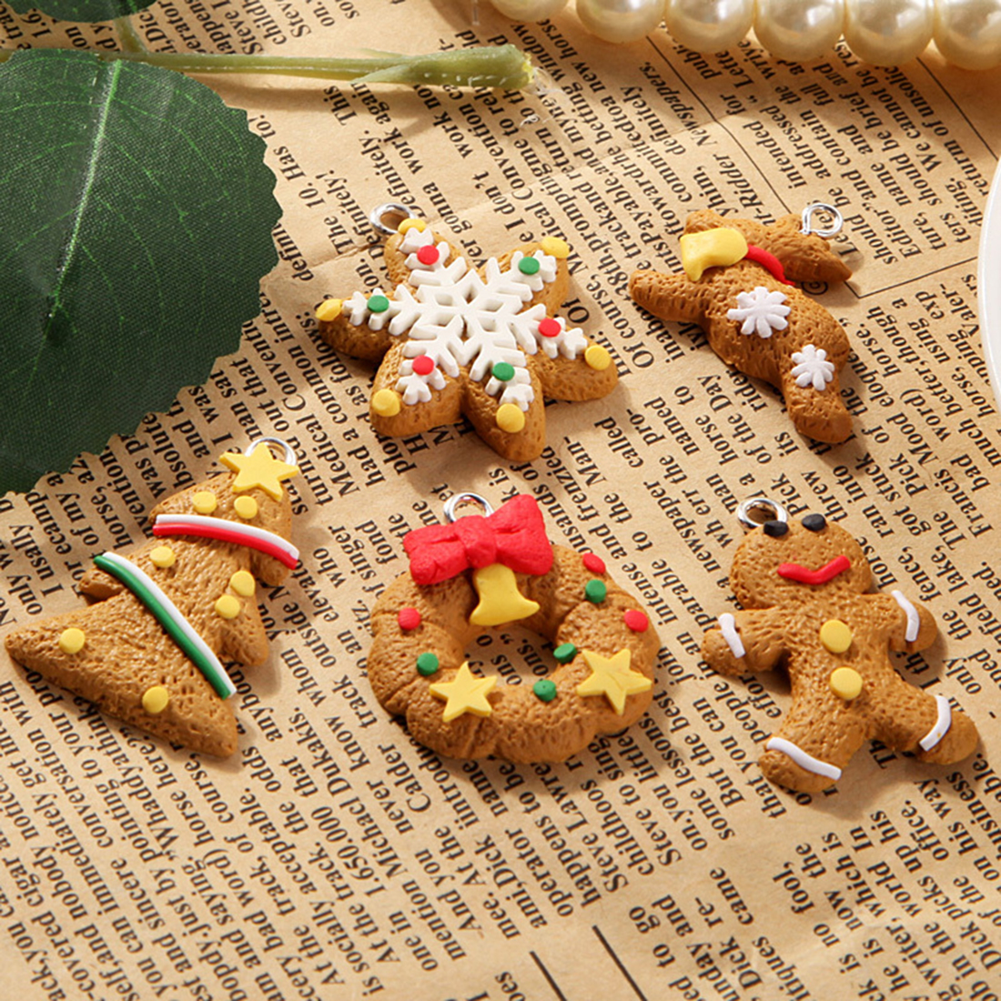 Polymer Clay Christmas Decorations.Us 2 07 27 Off 2017 Hot Selling Free Shipping 6pcs Christmas Tree Hanging Accessories Polymer Clay Pendants Christmas Ornament In Pendant Drop