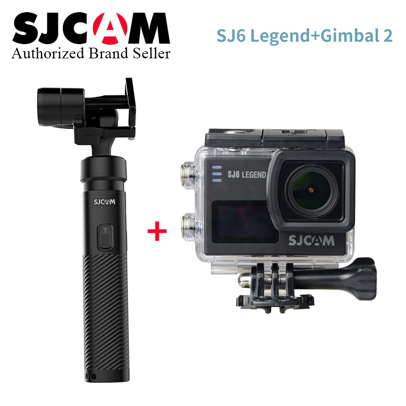 SJCAM SJ6 Legend 4K 24fps Wifi Action Camera 16MP Gyro Waterproof 2.0 Touch LCD Dual Display Diving Outdoor Mini Sport DV Cam экшн камера sjcam sj6 legend uhd 4k wifi розовый [sj6legend rosegold]