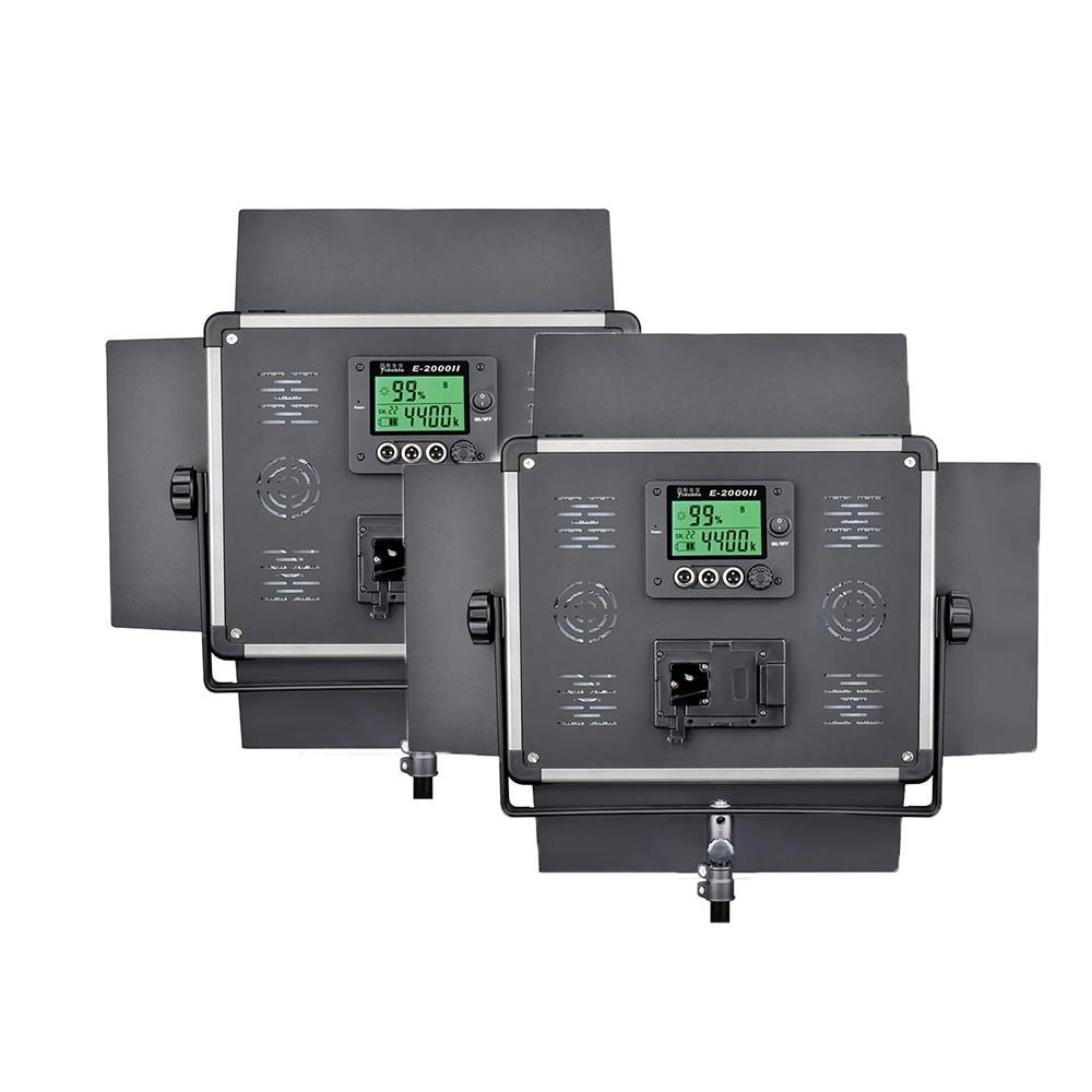 DHL 2 pcs Led video light lcd screen Remote Control Lamp E 2000II Continue Lighting Studio