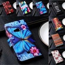 Flip PU Leather Phone Cover For Nokia Lumia 225 430 435 520 530 535 610 625