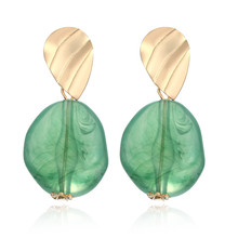 ECODAY Vintage Irregular Acrylic Earrings Korean for Women Drop Pendientes Brincos Boho Jewelry Kolczyki