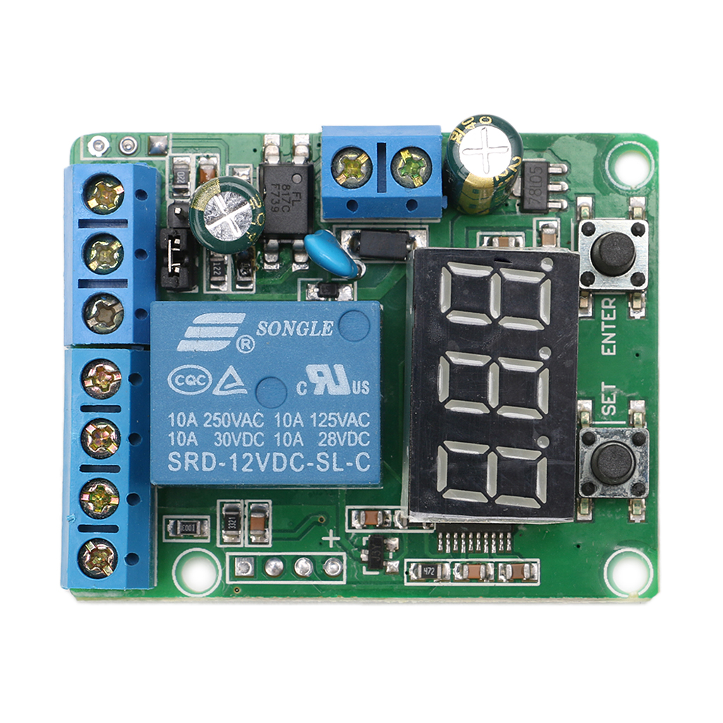 DC Relay Module Control Board 12V Switch Load Voltage protective Detection Test -Y103 voltage detection relay switch control board charging and discharging detection control module upper and lower alarm 12v